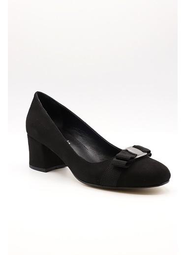 La scada Mr570 Sıyah Kadın Topuklu Ayakkabı Siyah